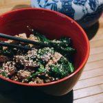 Teriyaki Tofu and Portobello Mushroom