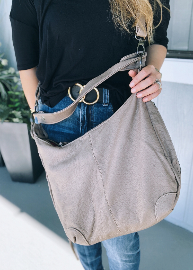 mushroom leather vegan bag