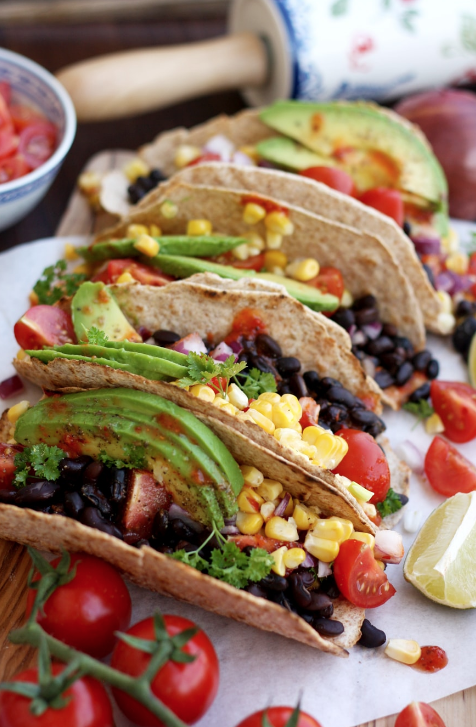 5 minute easy vegan tacos