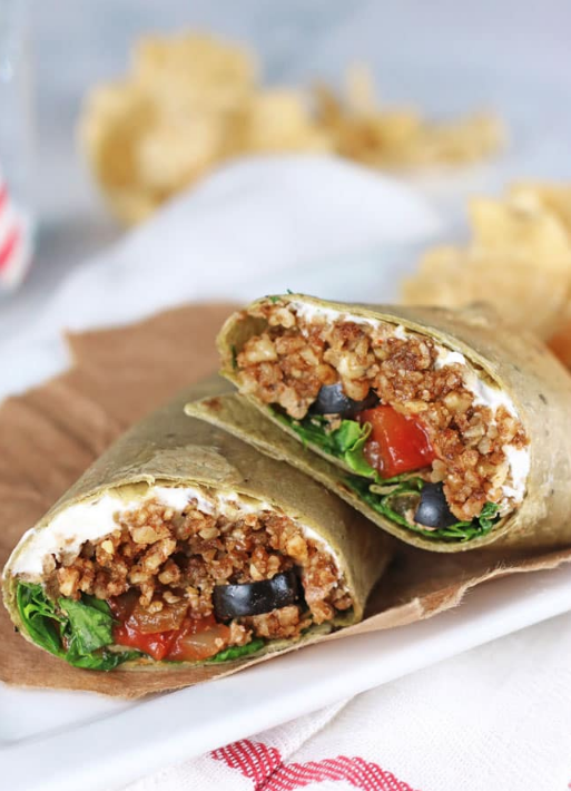 vegan taco wraps