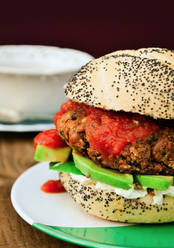 10 minute spicy vegan burger