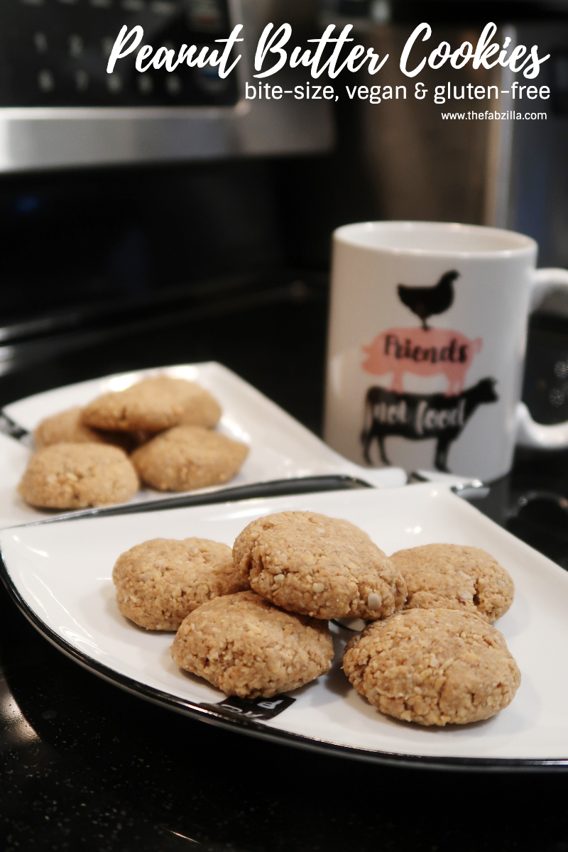 Hawaii Lifestyle Blogger Thefabzilla shares her recipe for bite-size peanut butter cookies which are both vegan and gluten-free