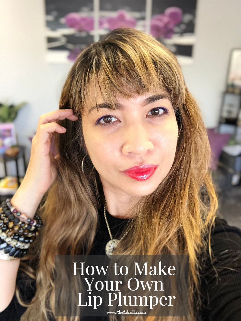 Hawaii Beauty Blogger Thefabzilla shares a beauty hack: how to make your own lip plumper. Easy and finished under one minute. Are you ready?